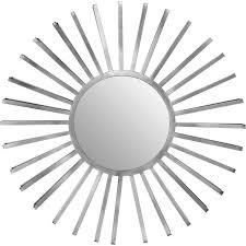 farran silver sunburst wall mirror
