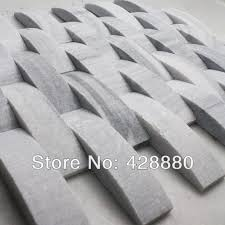 Natural Stone Mosaic Tile Kitchen Backsplash Tiles Wave Subway Tile Bathroom Floor Mirror Sgs43 3 1 3d Marble Flooring Designs Stone Specimens Stone Jewellerystone Mosaic Aliexpress
