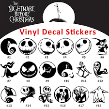 Collectables Nightmare Before Christmas Car Decal Jack And Sally Love Window Decal Stationery Stickers Utit Vn