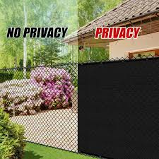 Colourtree 3 Ft X 9 Ft Black Privacy Fence Screen Hdpe Mesh Screen With Reinforced Grommets For Garden Fence Custom Size 3x9fs 2 The Home Depot