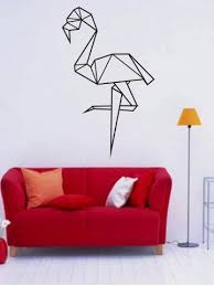 Geometric Ostrich Pattern Wall Sticker Wall Stickers Bedroom Wall Patterns Decal Wall Art