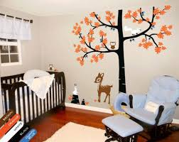 Oak Tree Wall Decal Deer Birds Squirrel Rabbit Owl Nursery Mural Kr069 Studioquee On Artfire