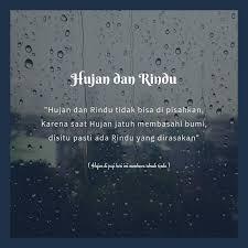 rindu dan hujan penikmat rindu