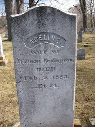 Adeline Cooper Redington (Unknown-1885) - Find A Grave Memorial