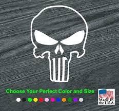 Punisher Skull Outlined Window Decal Sticker Custom Sticker Shop