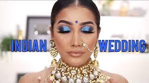 blue eyes indian wedding makeup
