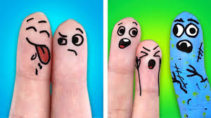 25 FUNNY FINGER ARTS | WHAT TO DO ON A BORING DAY - YouTube