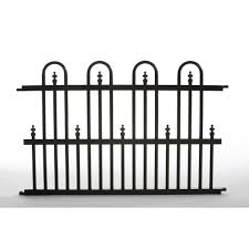 Specrail Garden Perimeter 2 Ft H X 3 Ft W Aluminum Fence Panel Roxbury24sp The Home Depot