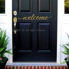 Amazon Com Welcome Wall Decal Home Decor Welcome Door Decal Vinyl Lettering Welcome Sign For Your Front Door Home Kitchen