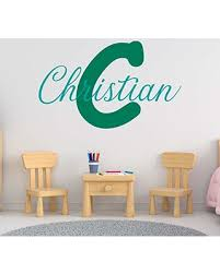 New Bargains On Personalized Boy S Name And Initial Wall Decal Choose Your Own Name Initial And Letter Styles Multiple Sizes Vinyl Wall Stickers For Kids Boy S Nursery Wall Decor Custom Name