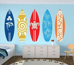 Surfboards Wall Decal Pack Sticker Surfboard Wall Art Surfboard Wall Wall Vinyl Decor