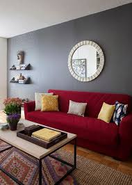 furniture shining design red couch