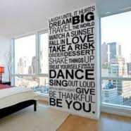 Removable Vinyl Wall Window Quotes Lettering Decals For Teens Room