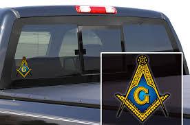 Freemason Window Decal Sticker