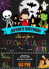Halloween Spooktacular Costume Birthday Party Invitation
