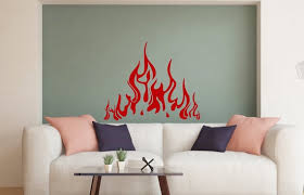Fire Wall Decals Flame Wall Decal Fireplace Vinyl Stickers Etsy