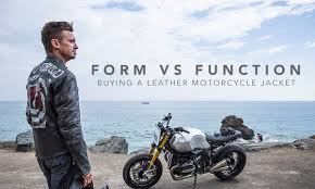 ing a leather motorcycle jacket