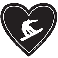 Love Decal Snowboard Sticker All Weather High Quality Vinyl Sticker Heart Sticker Company