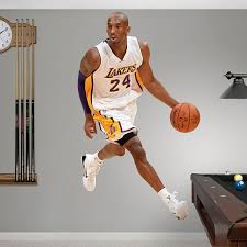Kobe Bryant Away Los Angeles Lakers Nba Basketball Wall Decals Sports Wall Decals Basketball Wall