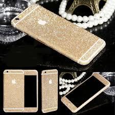 Glitter Bling Full Body Vinyl Decal Wrap Sticker Skin For Iphone 5 5s 6 6s Champagne Futurocks