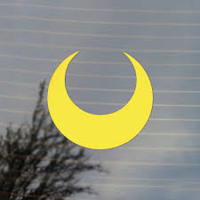Crescent Moon Magical Girl Anime Vinyl Decal Sticker Free Us Shipping For Car Laptop Tablets Etc