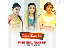 bridal makeup and free trail makeup in