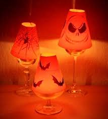 wine glass lamp shades template