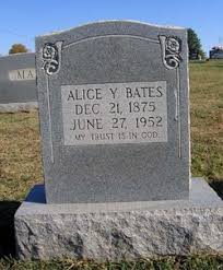 Alice Ophelia Smith Bates (1875-1952) - Find A Grave Memorial