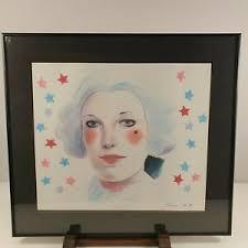Adrian George Signed Colour Pencil Portrait Of A Woman   eBay