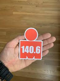 Haif Ironman Triathlon Mdot Vinyl Sticker Decal Tri 70 3 Logo 140 6 Triathlon