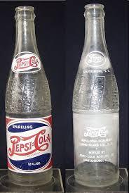 vintage pepsi bottle rwb double dot 12