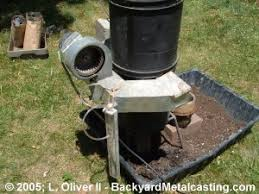 a homemade blast furnace 2