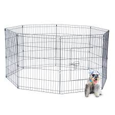 Pet Playpen Animal Cage Dog Fences Enclosure Small Puppy Play Yard Crate Us Stoc