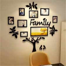 3d Arcylic Diy Family Photo Frame Tree Wall Sticker Home Decor Bedroom Art Picture Frame Wall Decals Poster S M L Xl Wall Stickers Aliexpress