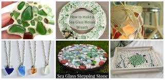 6 projects using sea glass diy thought