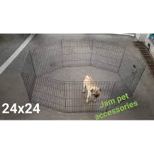 Dog Playpen Fence 8 Panel Exercise Pen 24x24 2ft Dog Cage High Quality Shopee Philippines