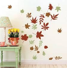 Autumn Leaves Wall Art Design Trendy Wall Designs