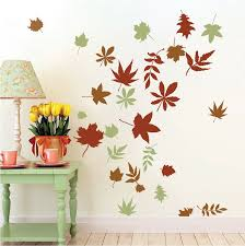 autumn leaves wall art design trendy