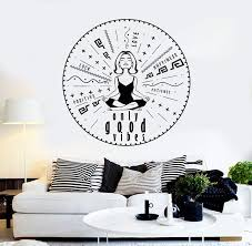 Vinyl Wall Decal Only Good Vibes Yoga Meditation Stickers Unique Gift Wallstickers4you