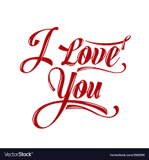 i love you royalty free vector image