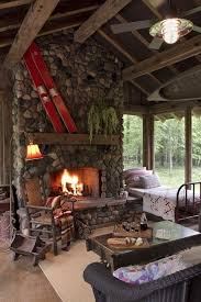 chimney sweep with rustic porch