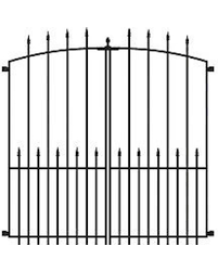 Great Sales On No Dig Grand Empire Xl Steel Decorative Metal Fence Gate 504087