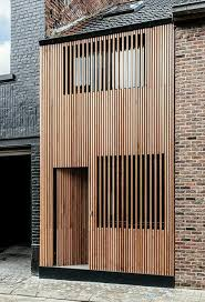 modern vertical wood slat home exterior