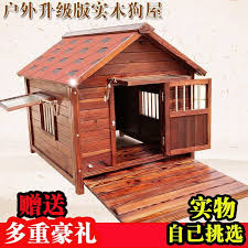 Usd 180 00 Solid Wood Dog House Fence Outdoor Waterproof Dog House L Medium Large Dog Cabin Fence Dog Kennel Villa Dog Cage Four Seasons Wholesale From China Online Shopping Buy Asian