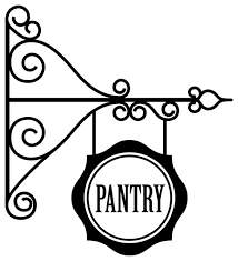 Hanging Pantry Sign Decal Contemporary Wall Decals By Dana Decals