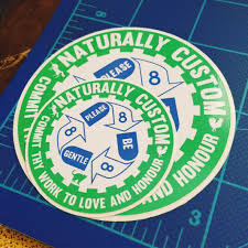100 Custom Circle Or Square Vinyl Decals Naturally Custom