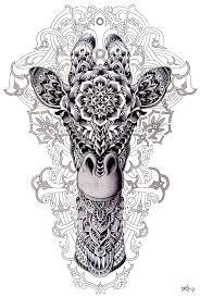 Coloring For Adults Kleuren Voor Volwassenen Giraffe Kunst