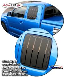 Simulated Window Louver Decal Kit 1 For Toyota Tacoma