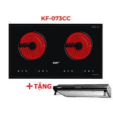 Bếp hồng ngoại đôi cảm ứng Kaff KF-073CC + Tặng Máy hút mùi nhà bếp cổ điển  7 tấc Kaff