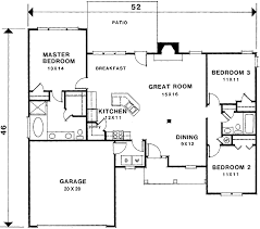 plan 2921kd split bedroom plan
